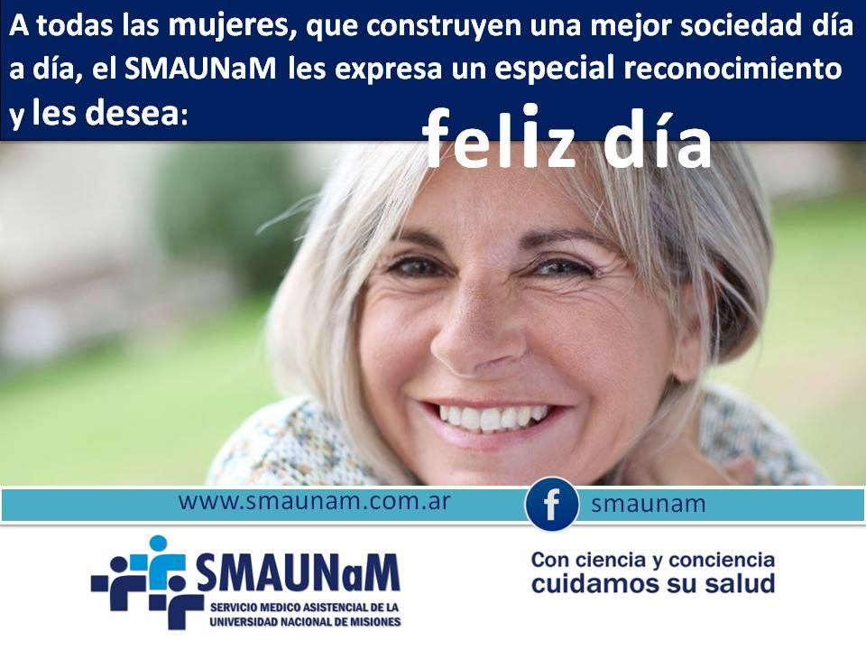 Salutacion Especial En El Dia Internacional De La Mujer Servicio Medico Asistencial Universidad Nacional De Misiones Orgullosa de ser mujer ¡feliz día de la mujer trabajadora! smaunam